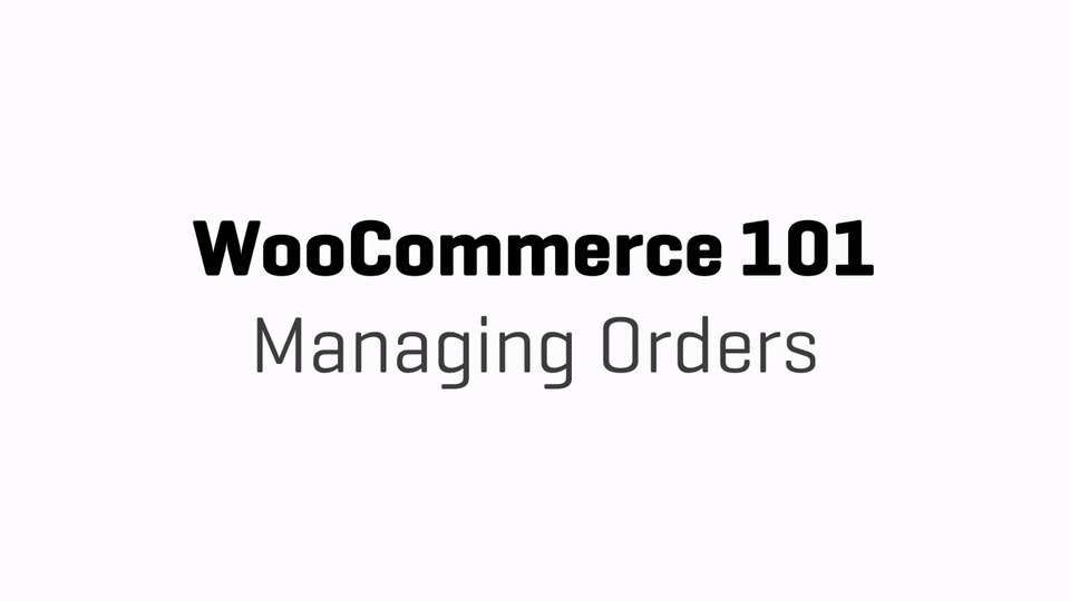 WC101 - Part 14a - Managing Orders Edit