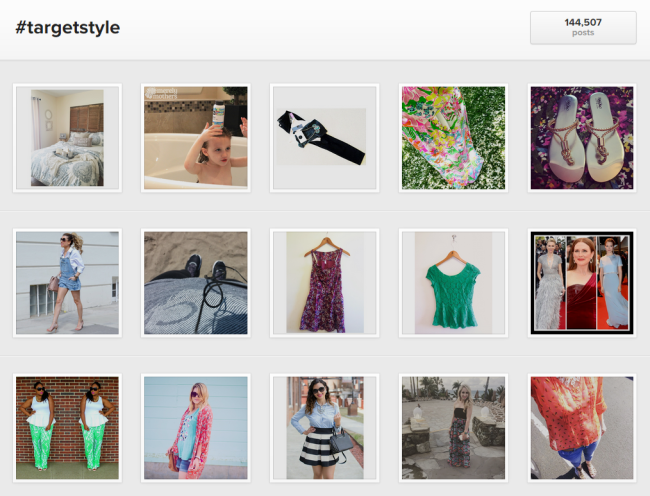 Target's #TargetStyle hashtag is popular among shoppers on Instagram.