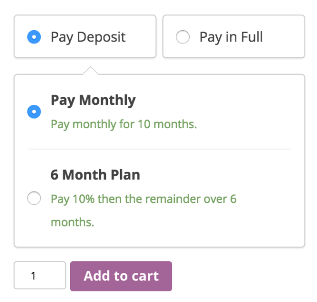 If a payment plan is connected to a product.