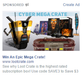 An example of a Facebook ad.