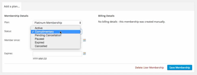 You can add or change a customer's membership tier yourself.