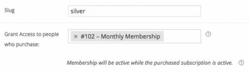 This membership is linked to a subscription.