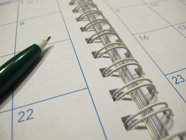 A calendar will help you keep track of the holidays you're planning to target.