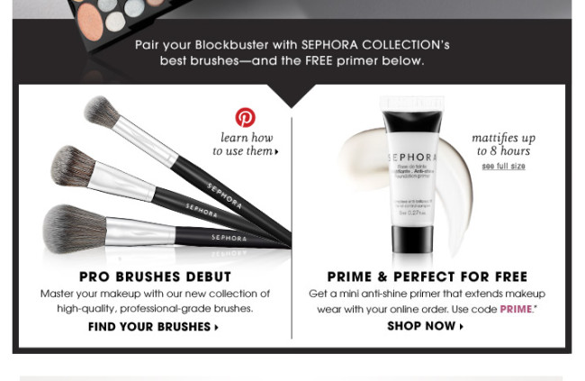 Sephora invites email recipients to visit Pinterest for helpful content. (Image credit: Marketing Land)