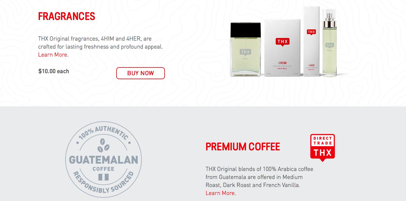 Coffee and original fragrances