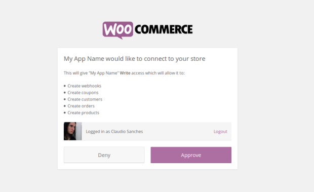 Visual API Authentication Endpoints in WooCommerce 2.4