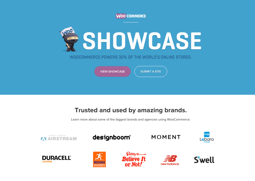 The WooCommerce Showcase, just one of our many recent projects.