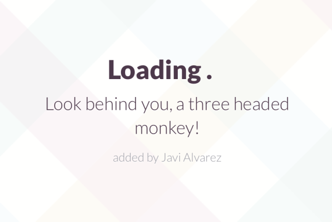 One of the custom loading quips added to Automattics Slack setup.