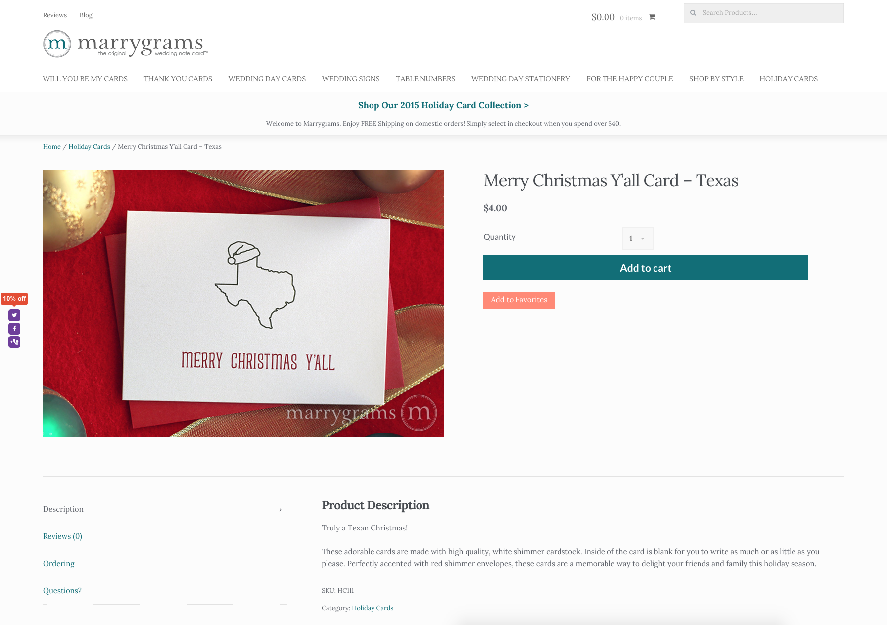 Marrygrams uses Storefront to make their shop delightful.