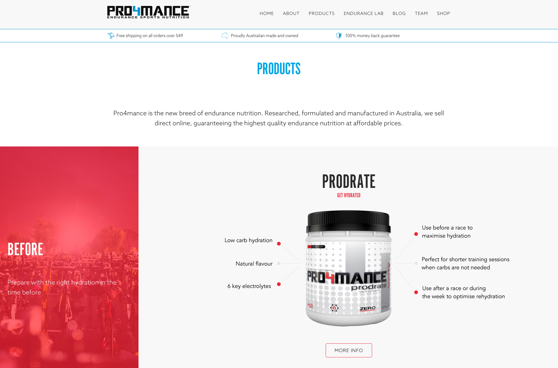 Pro4mance uses a highly customized version of Storefront.