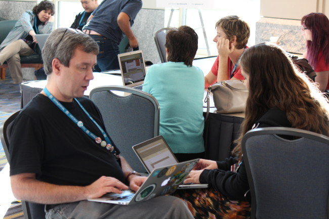 A sampling of some of the fine folks looking for guidance and advice during the event. (Photo by Seth Goldstein)