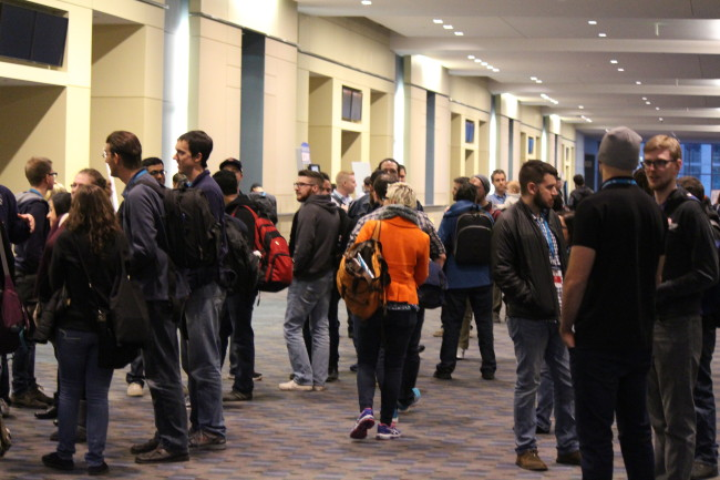 A glimpse at one of the busy halls over the weekend. (Photo by xxxx)