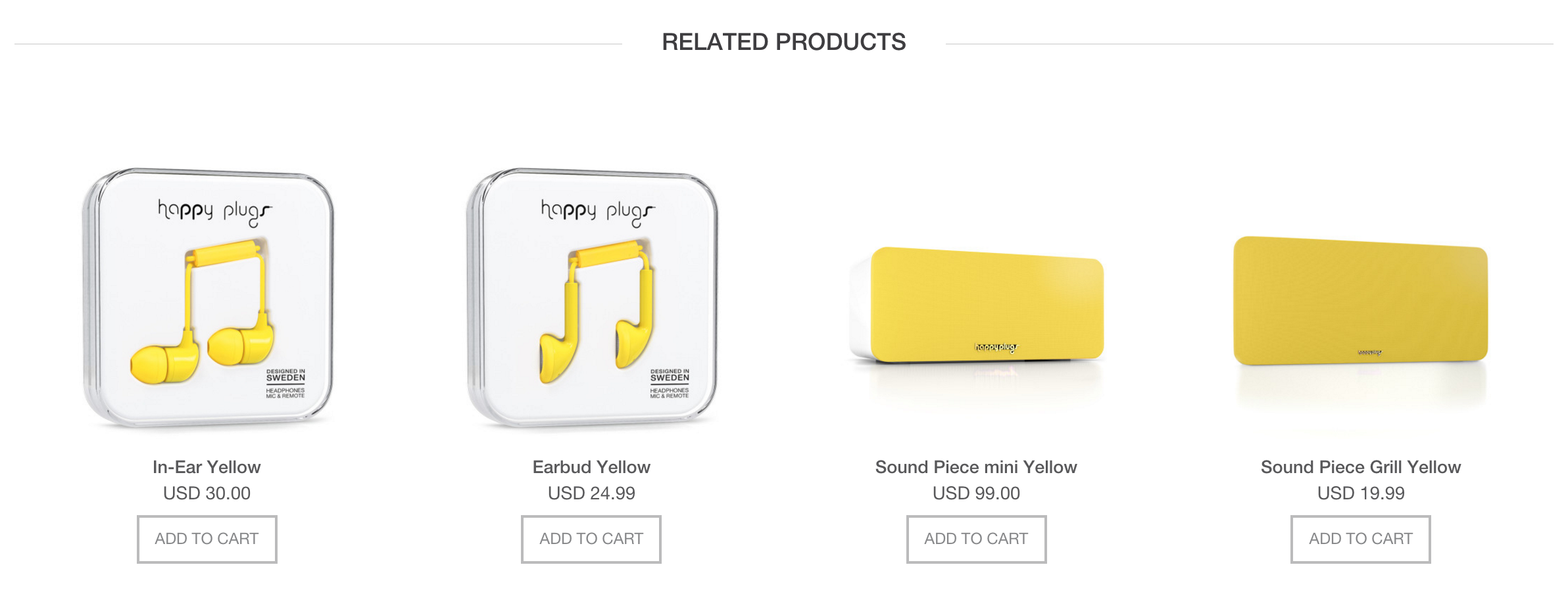 If you buy a yellow speaker, perhaps you'll also like some yellow earbuds.