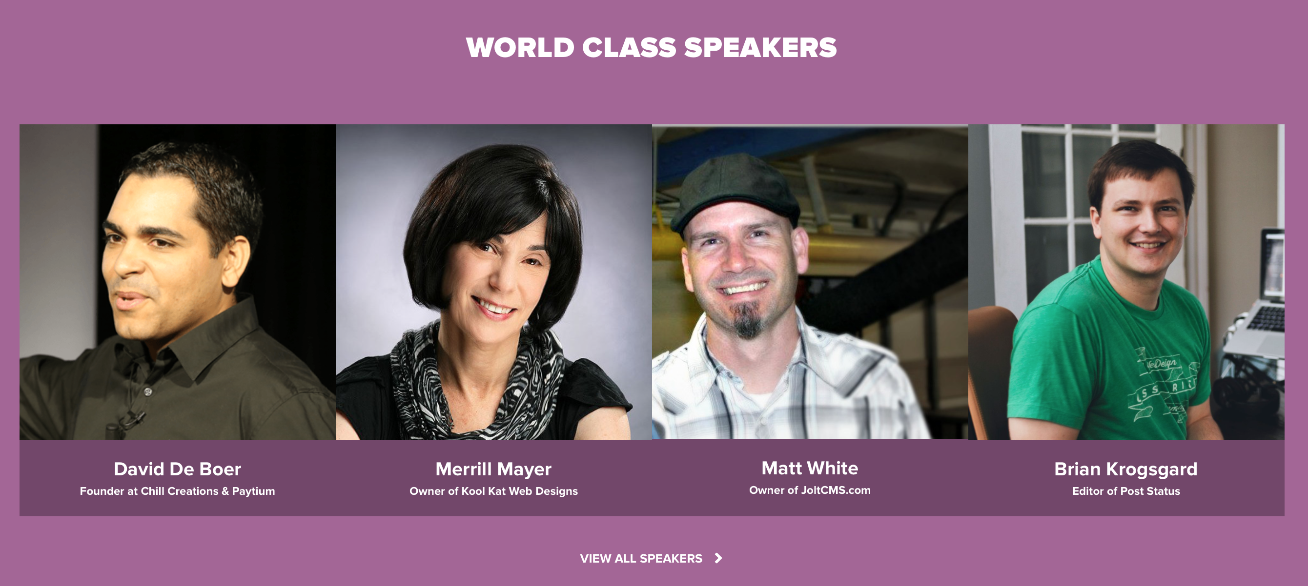 WooConf speakers