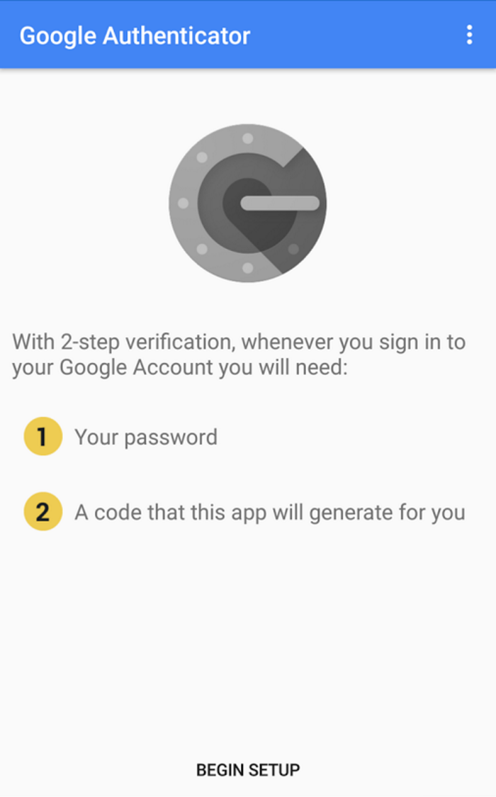 Set up Google Authenticator on your smartphone (for free!) to make 2FA a breeze.