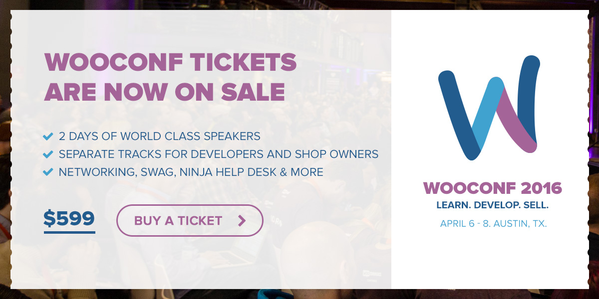 Buy a ticket to WooConf