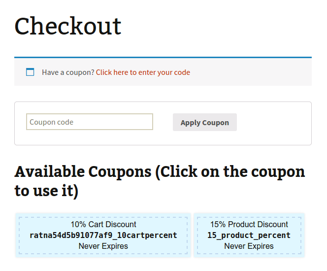 a86f1b1c330c Available coupons can be shown at checkout and applied only when the  shopping cart meets your