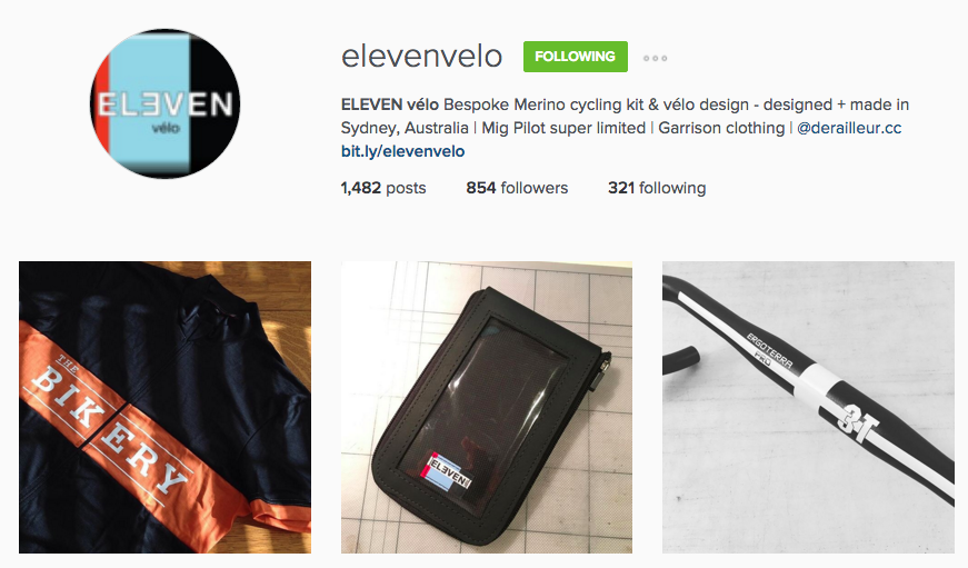 Elevenvelo on Instagram