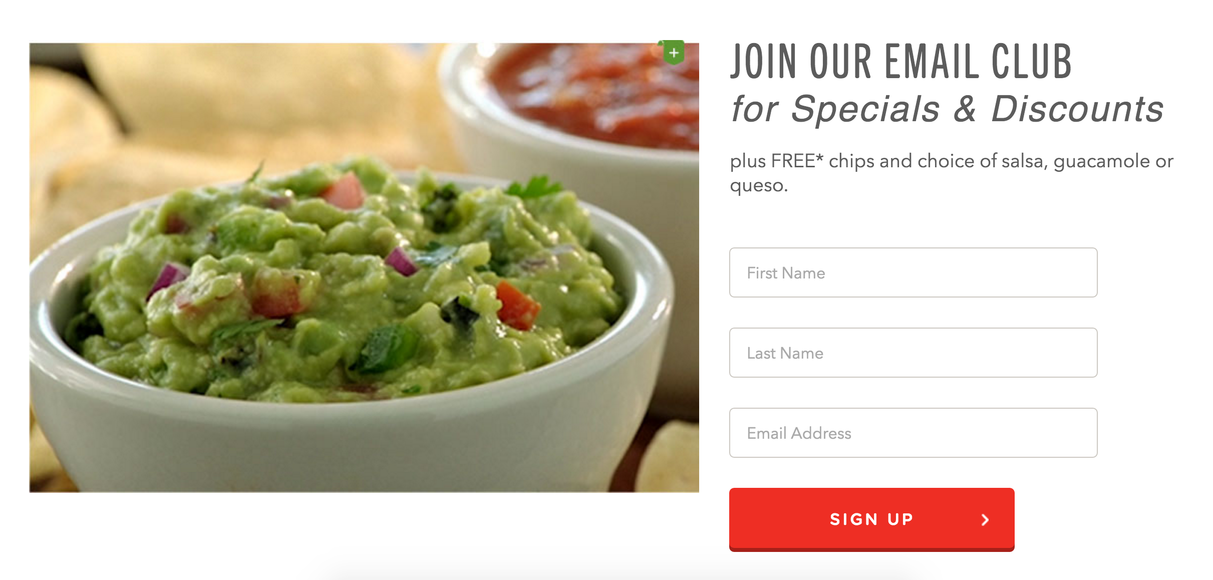 I super love guacamole, but I super hate restaurants emailing me daily, so... tough call.