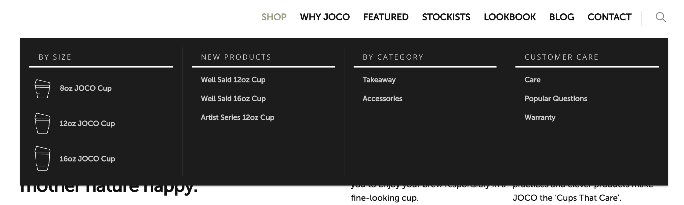 Just a few items in your store? Link to them directly from your menu -- it'll save shoppers time.
