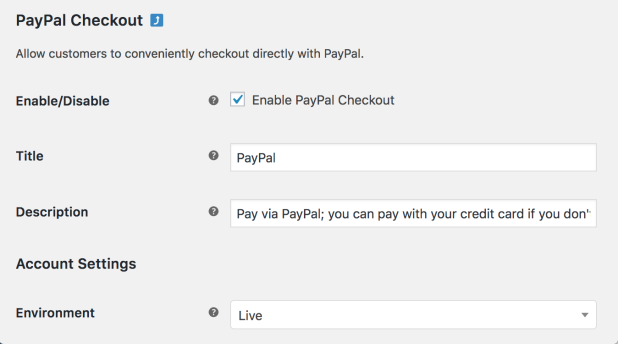 Paypal Checkout Woocommerce