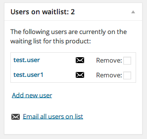 You can see who's on the waitlist and quickly send them an email when stock has returned.
