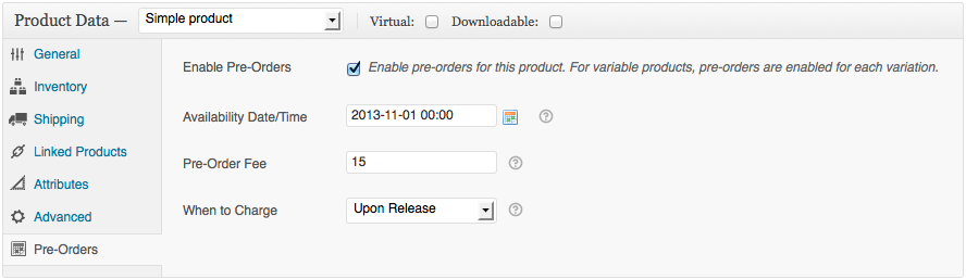 Configure your products with this extension to enable pre-orders -- and automatic billing upon the fulfillment of them.