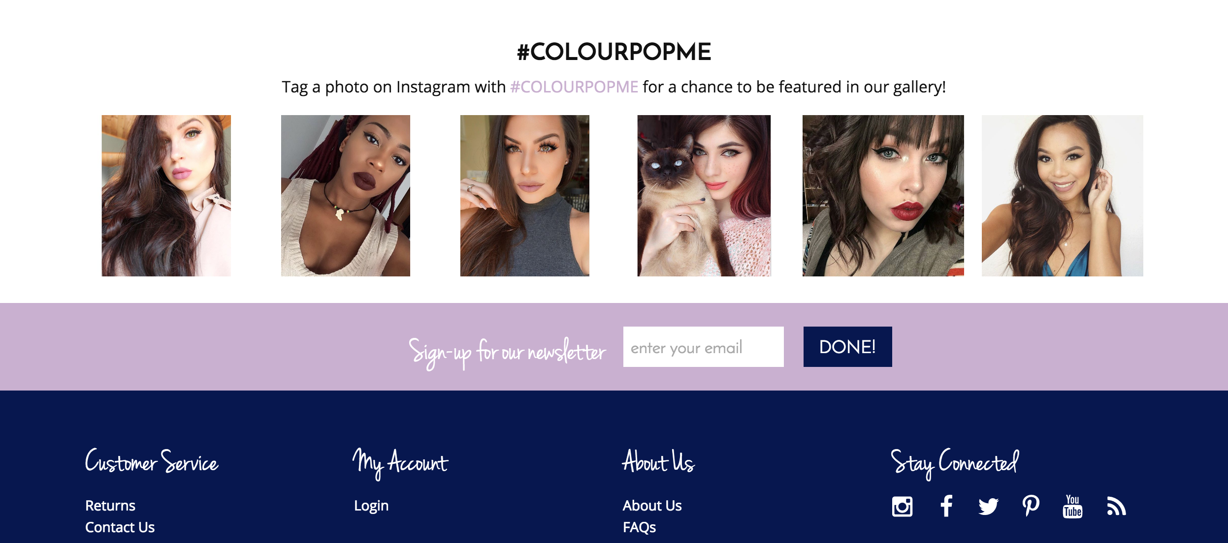 ColourPop uses social proof as means to make new shoppers feel confident about how their makeup choices will really look -- which is to say, stellar.