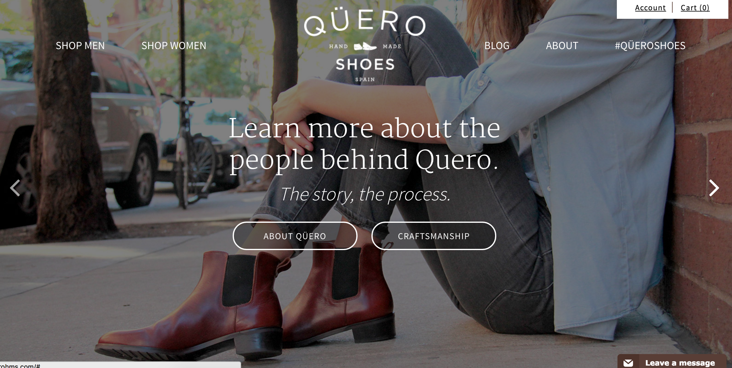 These handmade shoes are true to life and on display the instant you visit Qüero's store.
