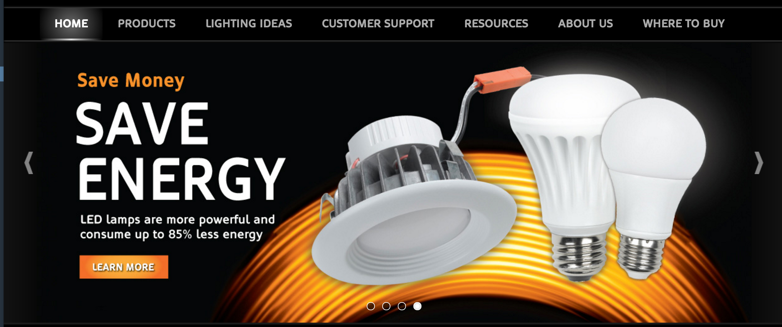 If it's new and a hot-button topic like LED lighting is, highlight it with a link to snag those products, just as Duracell has.