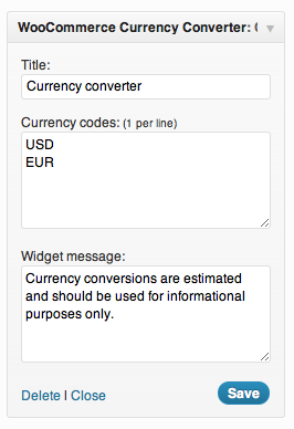 In this case, customers will be able to toggle between dollars and euro.
