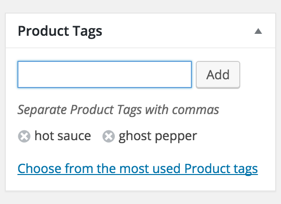 Type in the tags you want and you're on your way.
