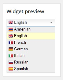 Translation on demand in convenient widget format.