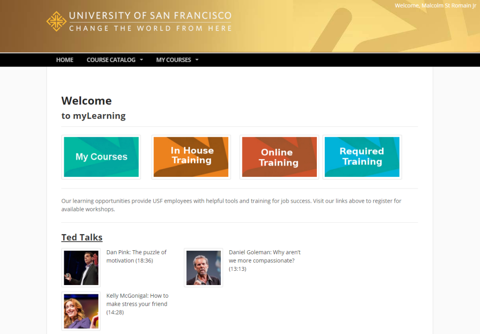 Courses, tutorials, videos, and more -- restricted only to members (that is, university employees).