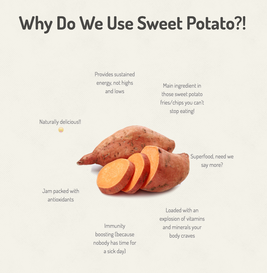 Why sweet potato? Ally's Bar will be happy to educate you.