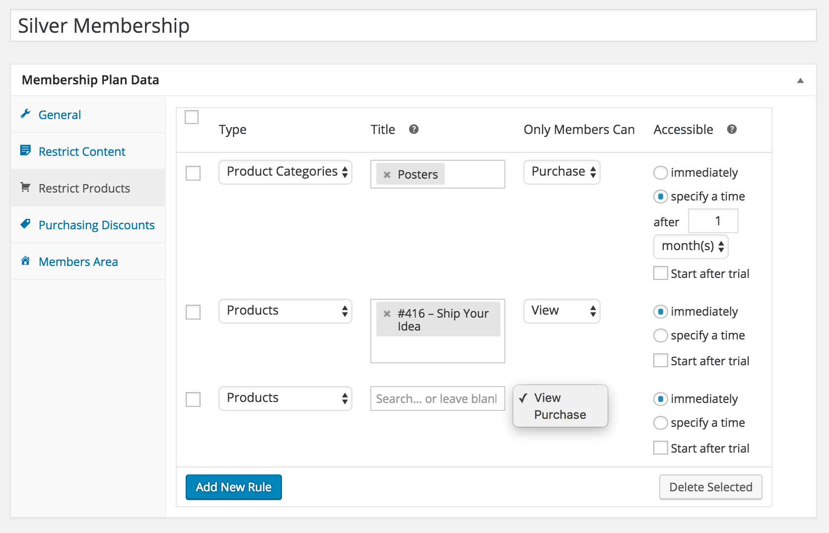 WooCommerce Memberships restricting products