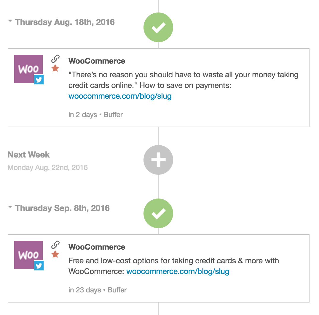 CoSchedule has been a miracle worker for us. One of its best features: scheduling out social promotions of blog posts the moment they're scheduled in WordPress. Saves me (and our whole team) oodles of time. Bonus: it integrates with Buffer so we get tracking AND use the time scheduling we have set up.