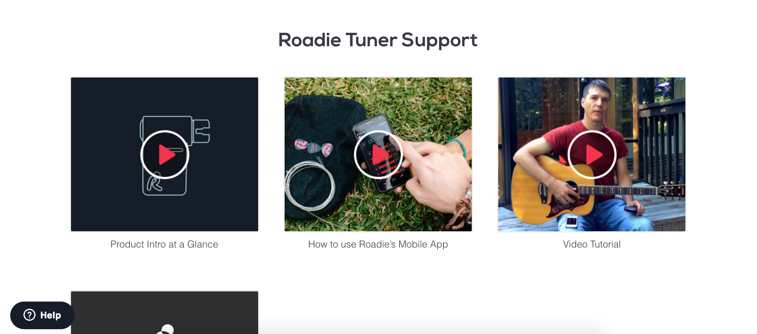 Four videos await customers looking for support, whether they're looking to use the tuner for the first time or having trouble getting it to work again.