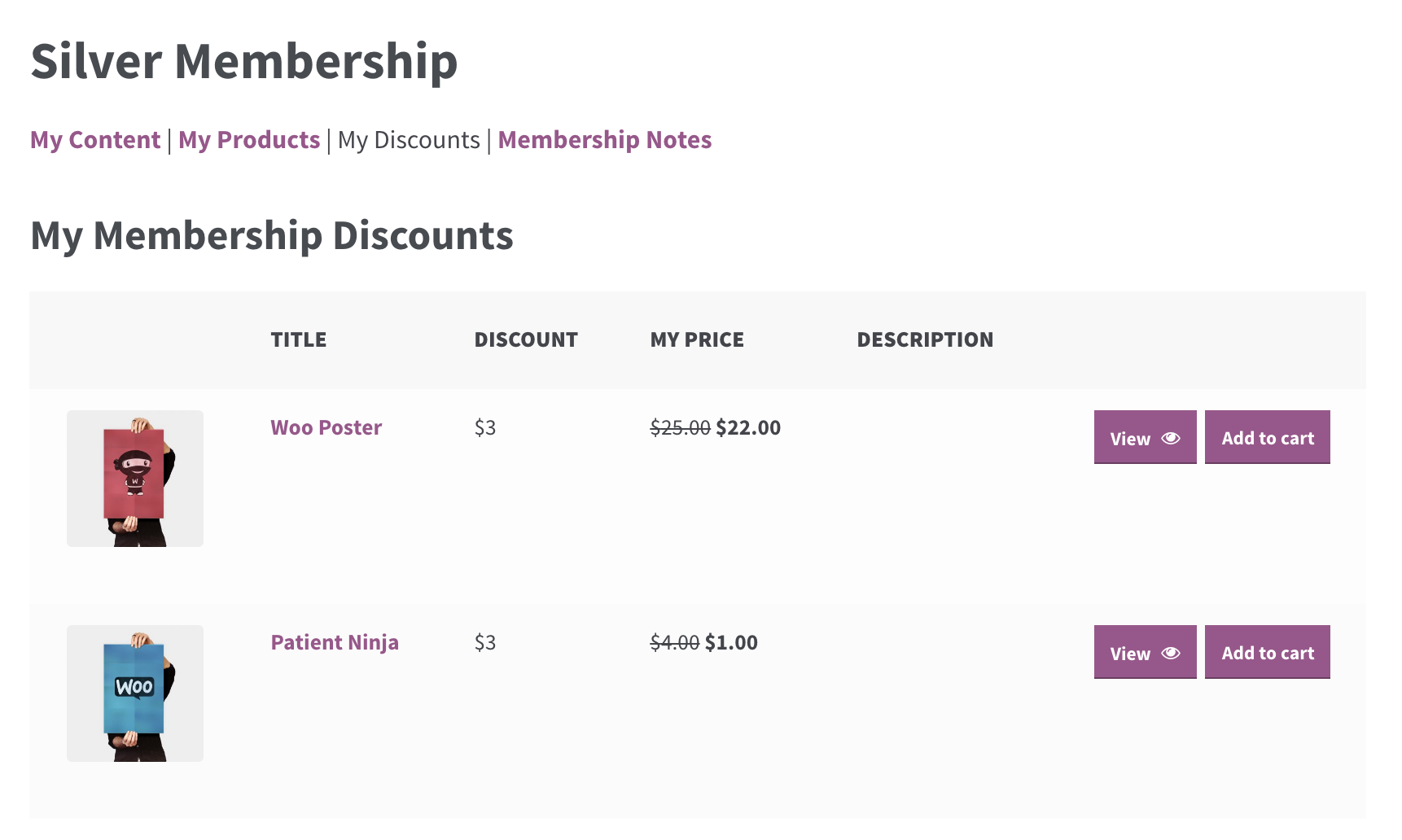 "Members can even see how they're benefitting by visiting the ""My Discounts"" tab. Woo!"