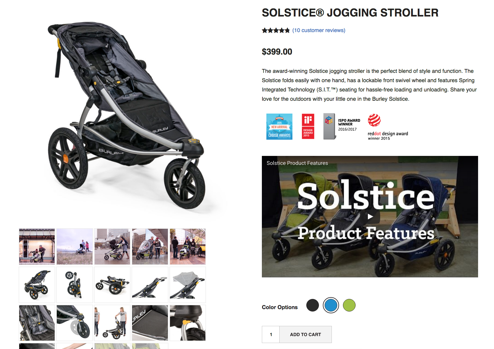Parents or family members who want to get a good workout in but still take their little one along can give this jogging stroller a try.