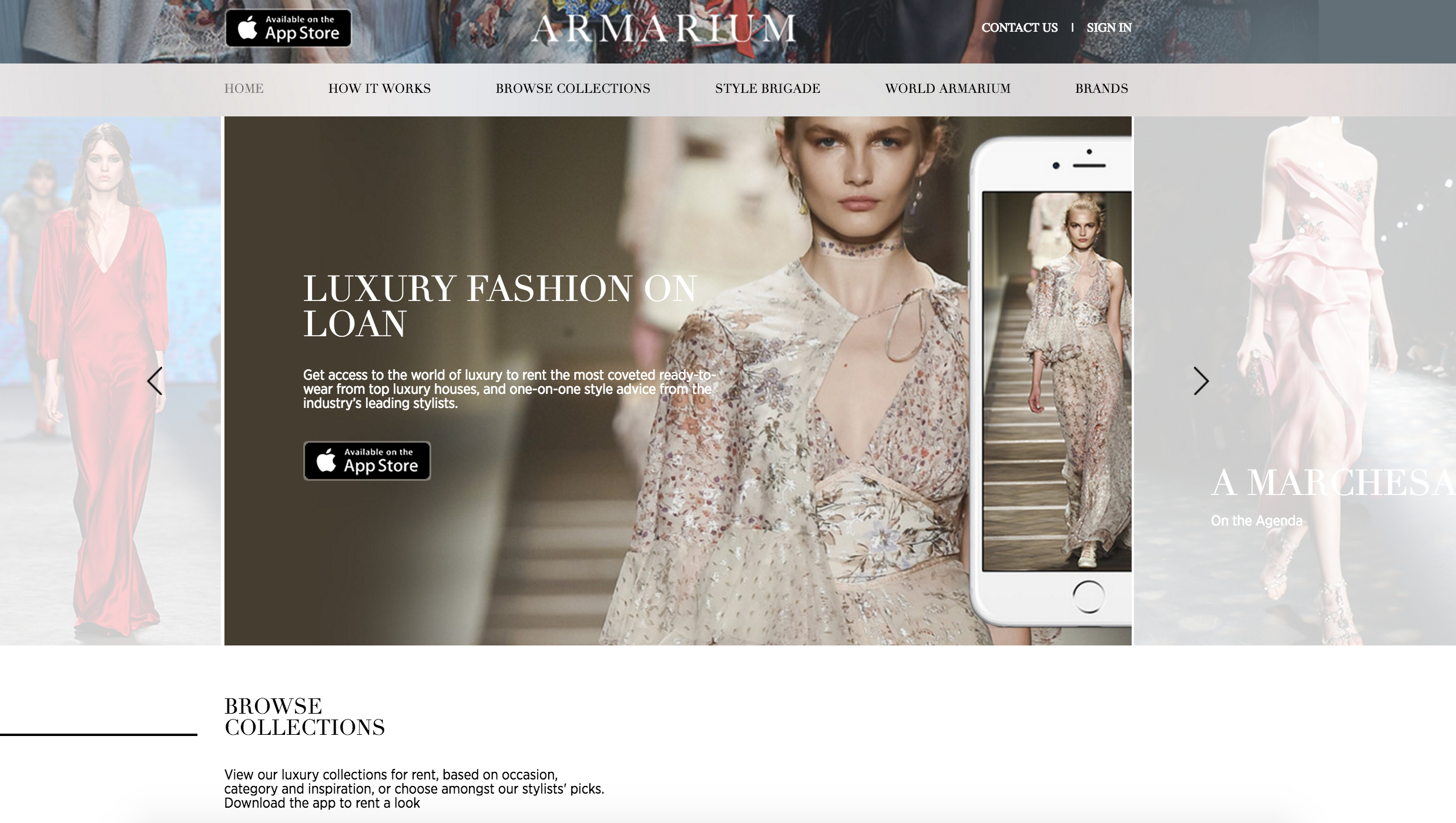 Luxury fashion on loan, by Armarium.com