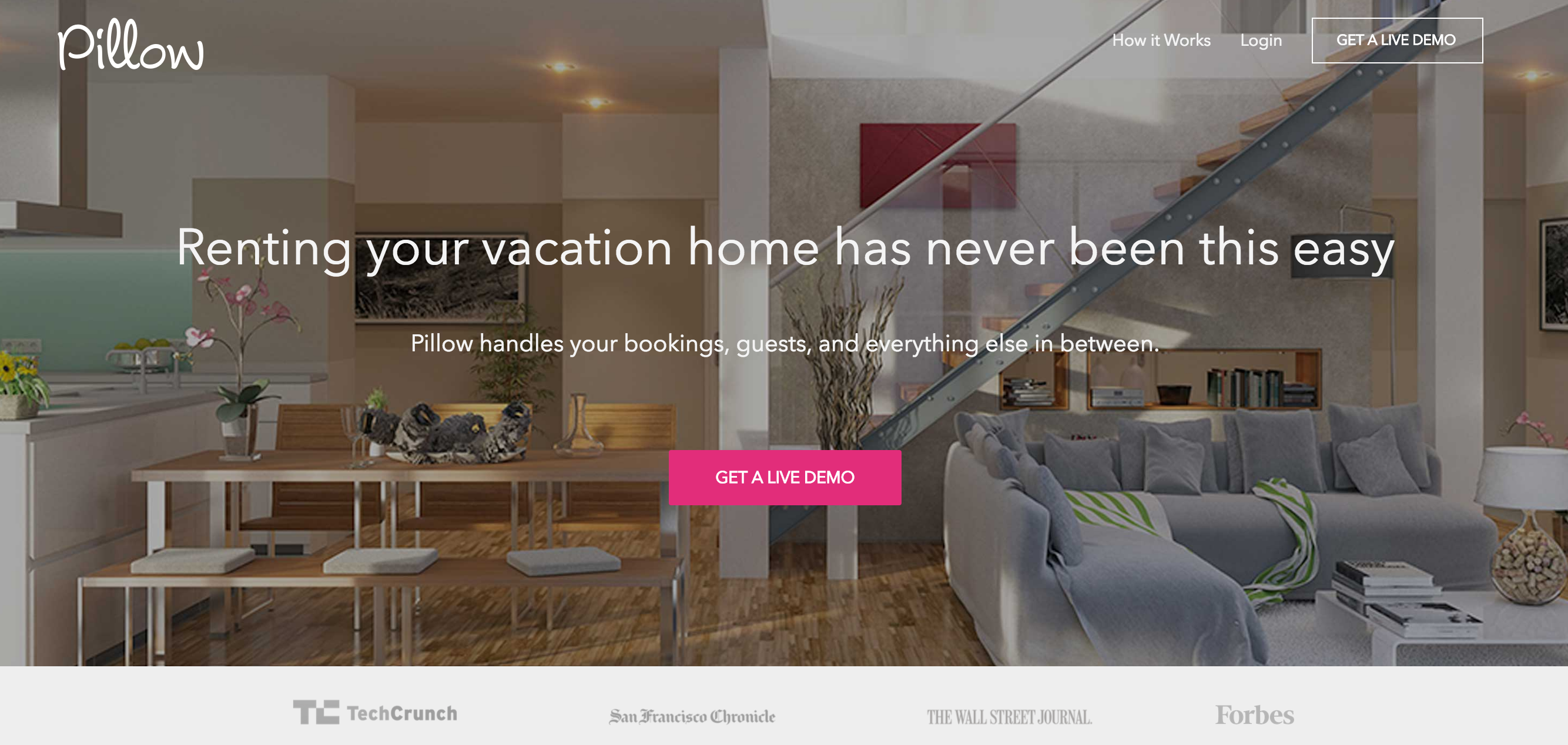 PIllow provide a complimentary service for AirBnb users, and handle key collection, cleaning etc.