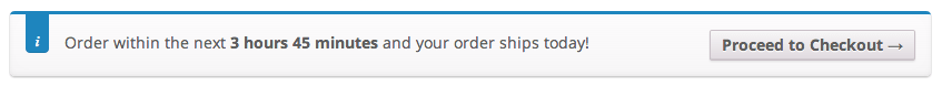 An in-cart notice is hard to miss -- and with this extension, they're triggered automatically.