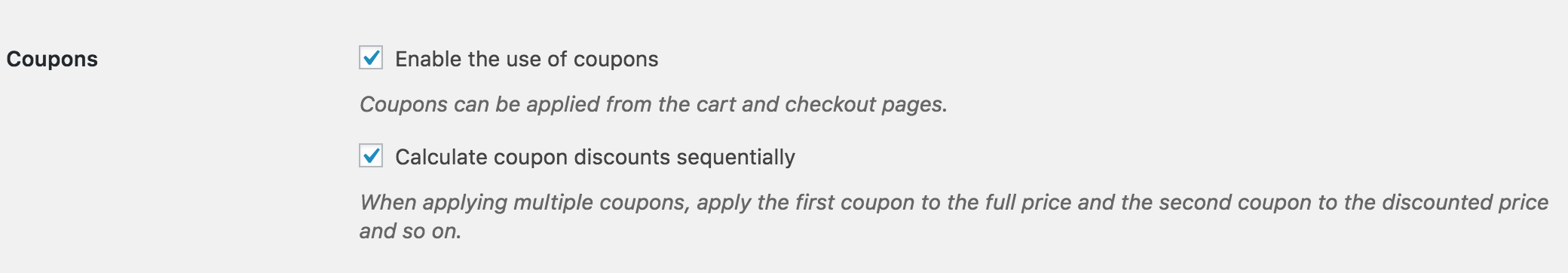 The only exception being if youre using URL Coupons, which will apply codes to orders without the need for a coupon box.