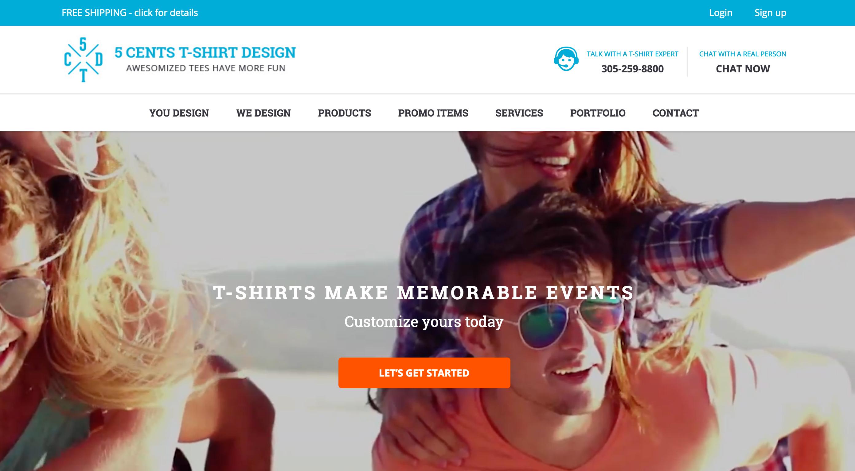 5 Cents T Shirt Design Woocommerce