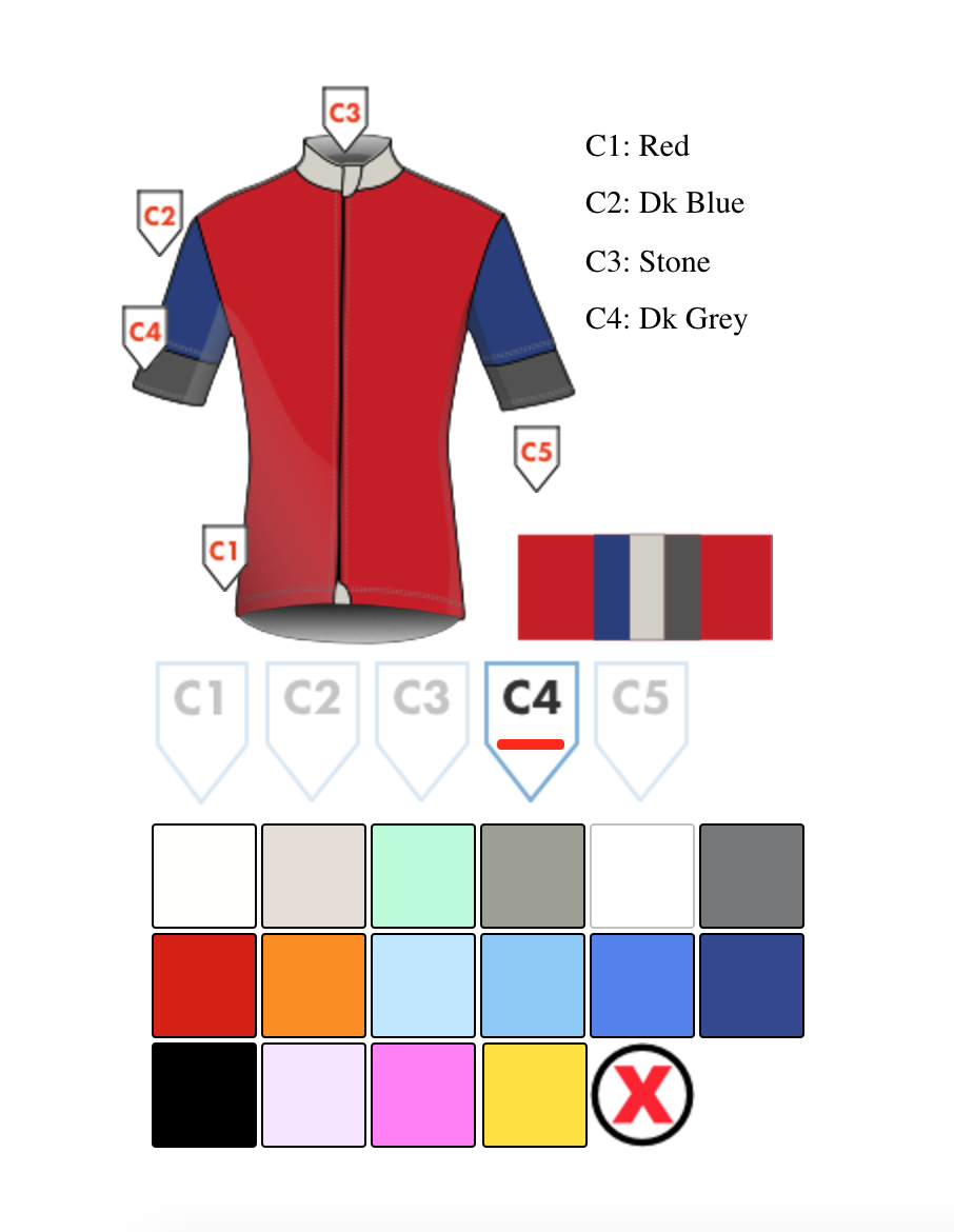 preview the colors you like for your jersey
