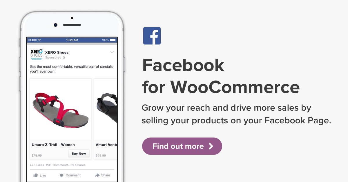 Grow your reach and drive sales with Facebook for WooCommerce