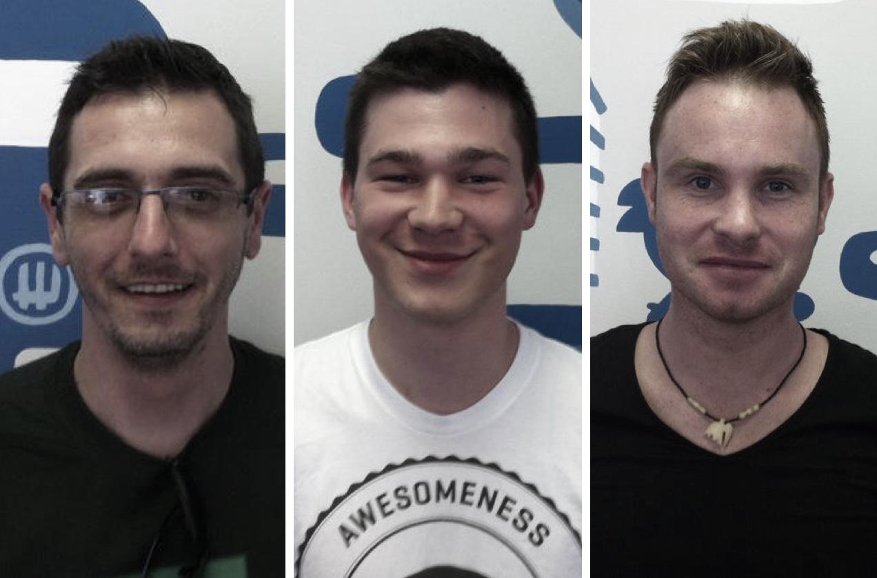 L-R: Stuart, Daniel and Sven.