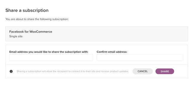 For agencies and developers: share your subscriptions with your clients