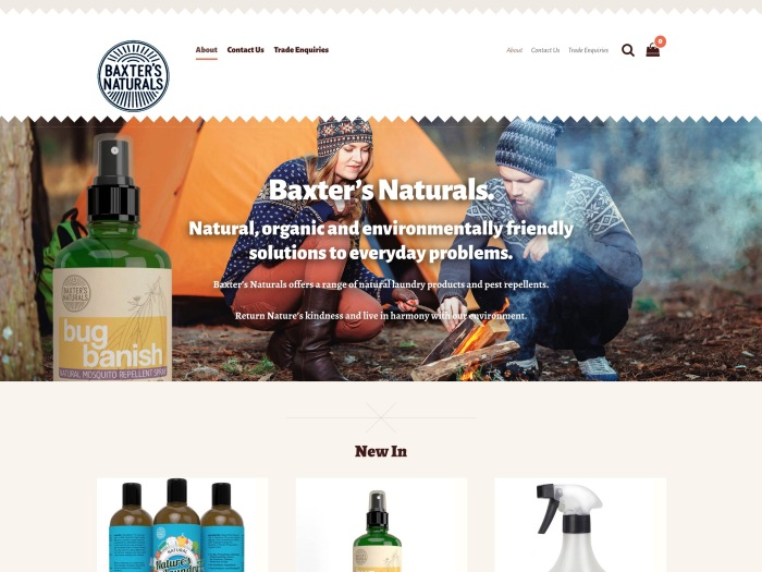Baxter's Naturals - WooCommerce Showcase